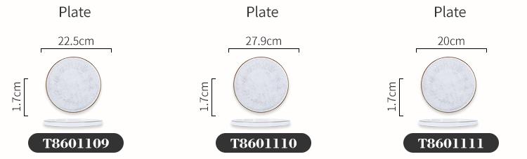 wholesale round flat porcelain dinner tableware crockery ceramic dining plate