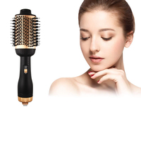 Private Label Hair Brush Straightener Hair Comb Styler One Step Hair Dryer
