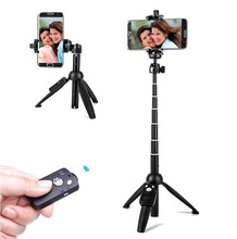 All in one piece 9928 selfie stick monopod bluetooth remote control tripod stand