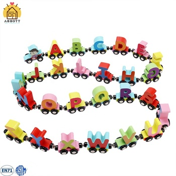 Wooden Magnetic Train Alphabet Letter Toy Train For Kids Early Educational Play