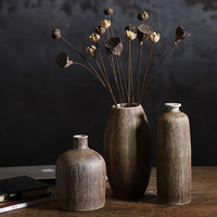 Wholesale brown retro ceramic vase home decoration