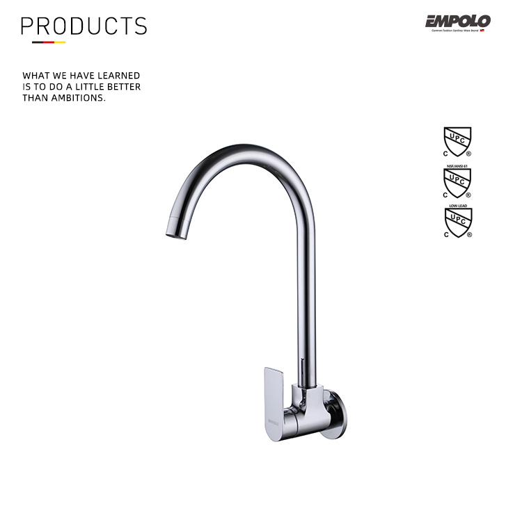 Hight Quality Sanitary Ware Brass Single Cold Water Bathroom Basin Sink Faucet