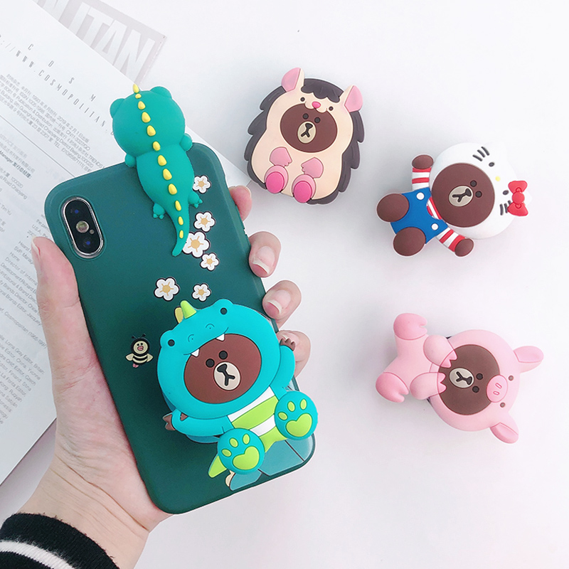 Phone Accessories new cartoon Phone Holder Popping Phone Socket