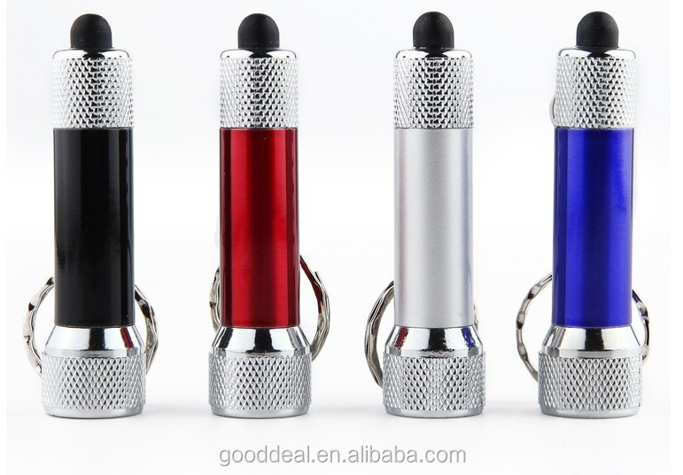 Cheap Promotion Gift Portable Aluminum Alloy super bright Mini 5LED keychain flashlight torch