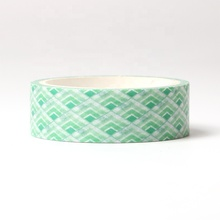Custom printed recyclable green washi tape
