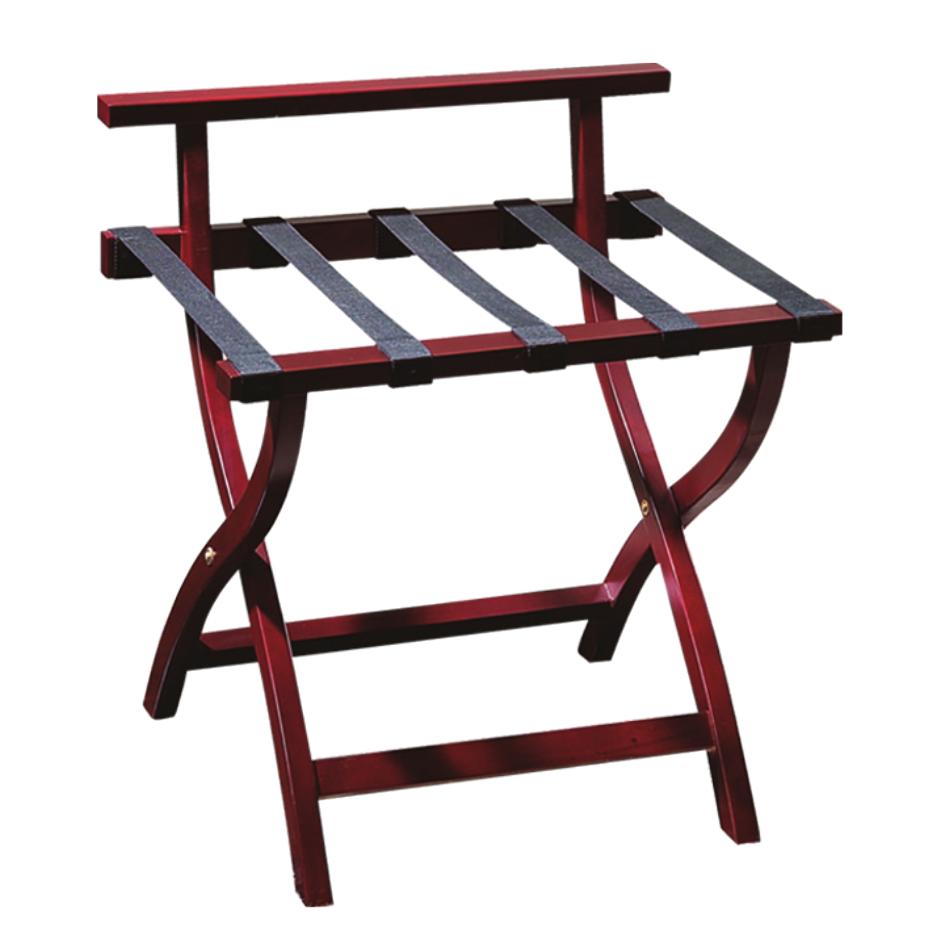 Mahogany Folding Luggage Rack