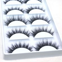 High Class 5 Pairs 3 Pairs Fake Eyelashes 3D Soft Pur Luxury Natural Silk Synthetic Fiber False Eyelash Private Label Lashes