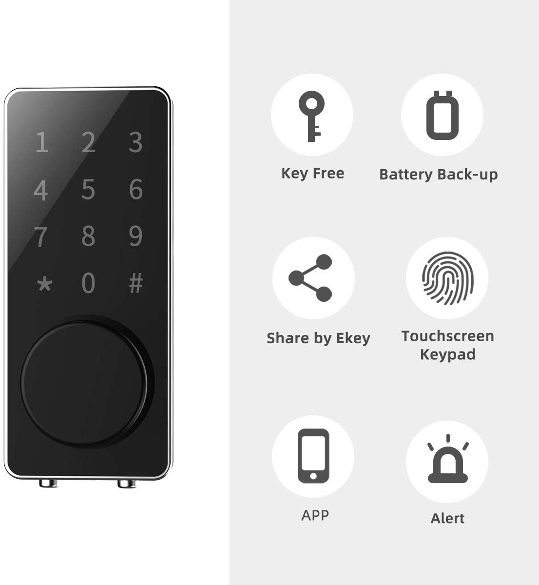 Smart Home Door Lock Bluetooth With Touchscreen Digital Thumbprint Bluetooth Lock ble 4.0 Bluetooth Smart Door Lock
