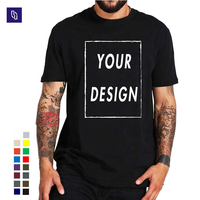 wholesale graphic tees unisex blank black T shirts in bulk logo printed 100% Cotton plain T-shirt
