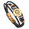 Personalized Snap Closure Genuine Leather Zodiac Engrave Bracelets