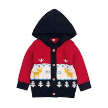 baby girls boys christmas pattern clothing cartoon european american little children sweater cardigan