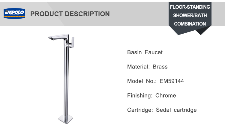 Hotel Face High Standard Floor Standing Brass Tube Basin Faucet Sink Tap Cold Hot Mixer Bath Bathtub Faucet