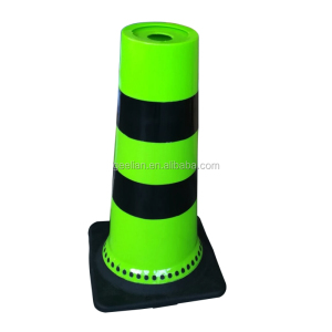 Flexible Roadwork/Worksite safety PVC traffic Cone with 2 reflective bands 900mm