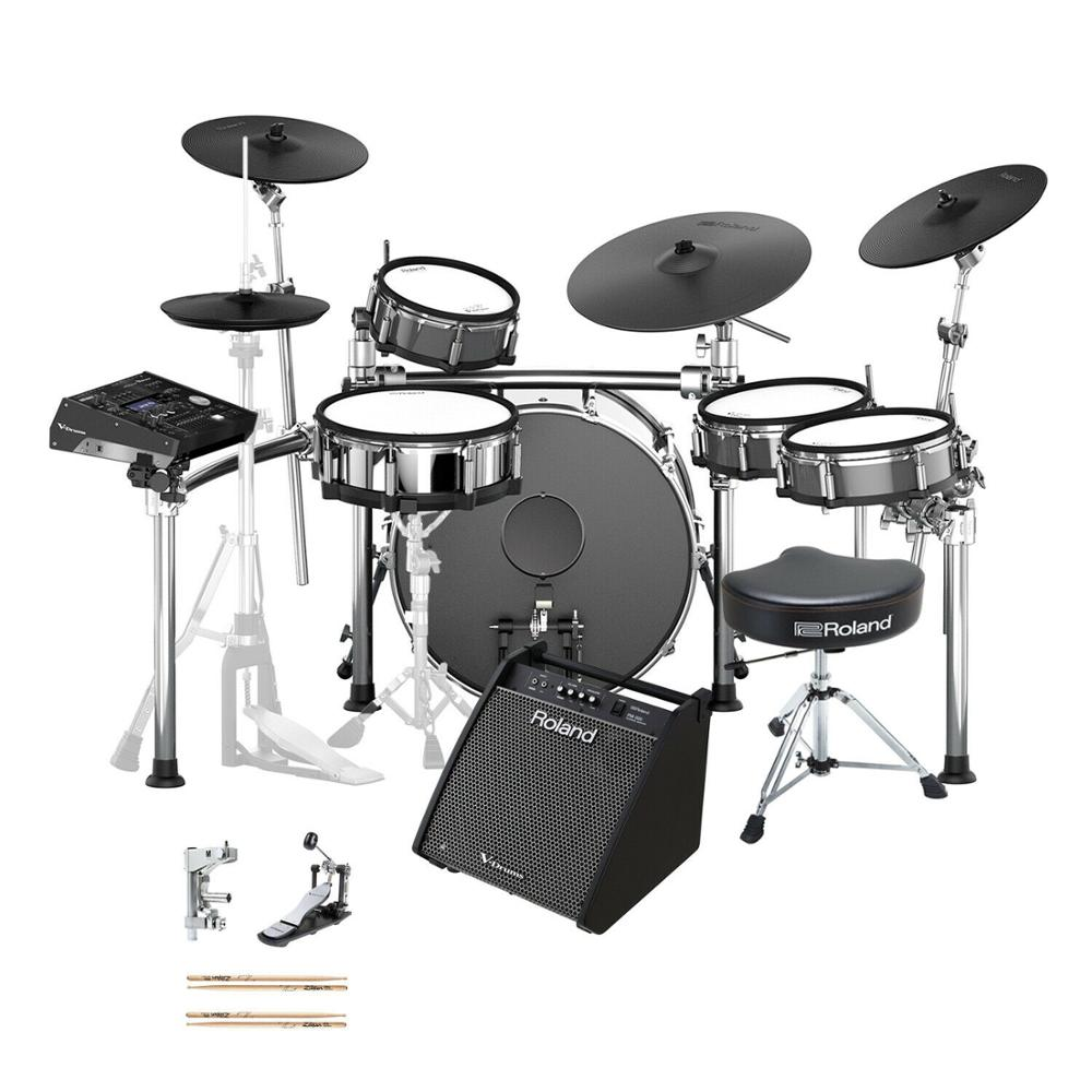"ORIGINAL SEALED Roland TD-50KVX 5-piece Electronic Drum Set with 22"" Bass Drum"