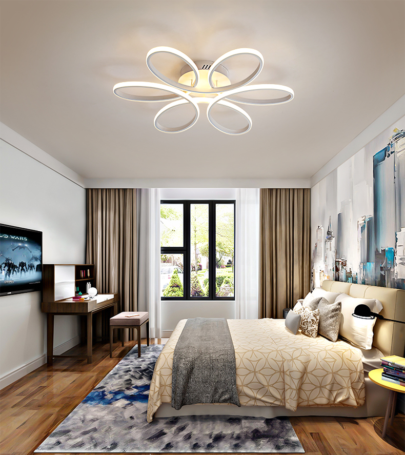 Nordic minimalist living room ceiling lamp acrylic shaped lamp bedroom led ultra-thin ceiling lighting