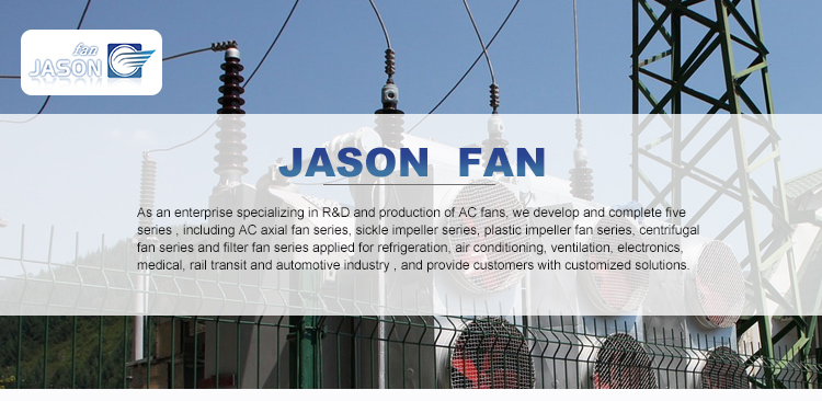 172mm Oval shape ac axial flow fan for America market