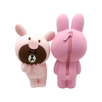 Multifunctional Large Capacity Silicone Cute Animal Pencil Cases