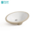 Glossy soild surface sanitary ware oval shape hand wash ceramic under counter basin