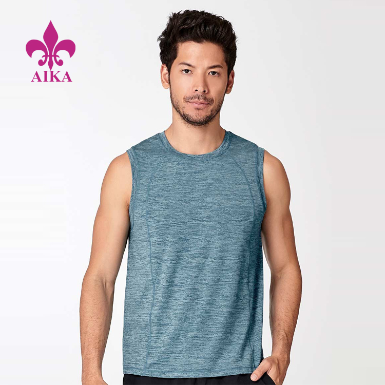 Men Sports Wear Lightweight Breathable Slim Fit Smooth Hand-Feel Running Tank Top