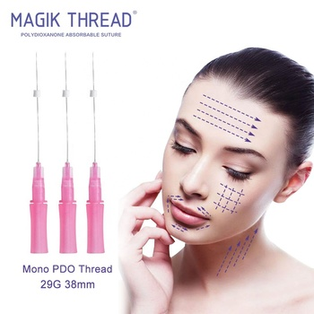 Mono 29G 38MM High quality injectable PDO thread face lift mesotherapy needle 30g x 4mm