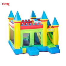 China Wholesale Kids Inflatable White Boubce House Jumping Air Boubcer Commercial Bounce House With Slide