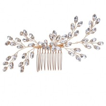 Clear Rhinestones Vine Wedding Bridal <strong>Hair</strong> Metal Comb Handmade Wedding <strong>Hair</strong> <strong>Accessories</strong> for Women