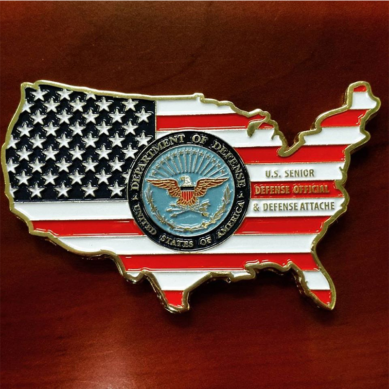 Custom unique design US military challenge coins made in China