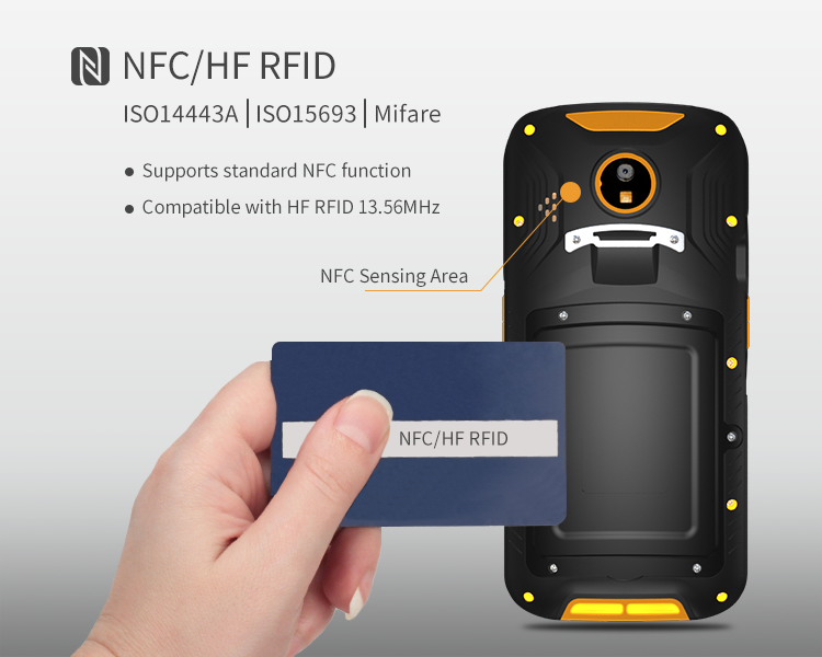 5.5 inch N3680 1D 2D Barcode scanner Android 6.0 PDA 2G +16G Octa-Core NFC 4g wifi GPS 8Mp camera 5200mAh PDA 518D