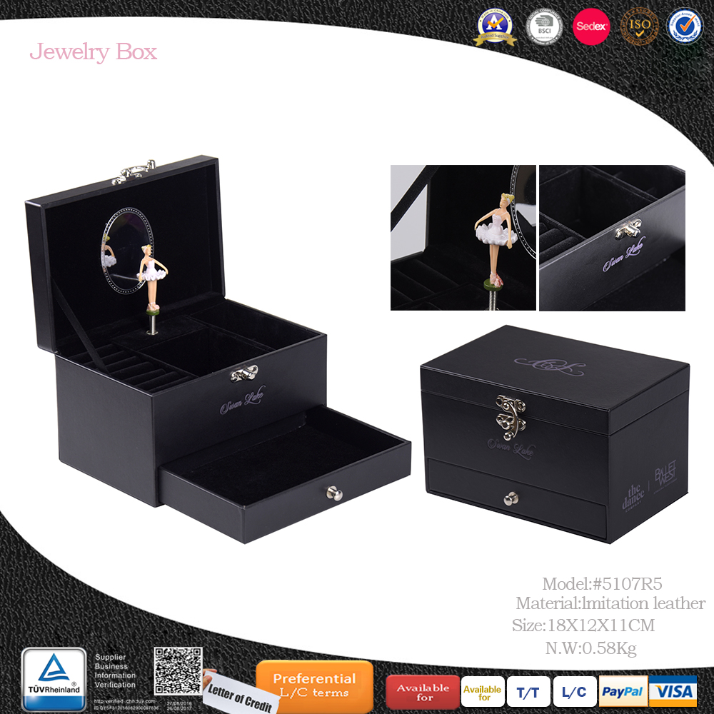 personalized gift cardboard black girl dancing ballerina jewelry music box