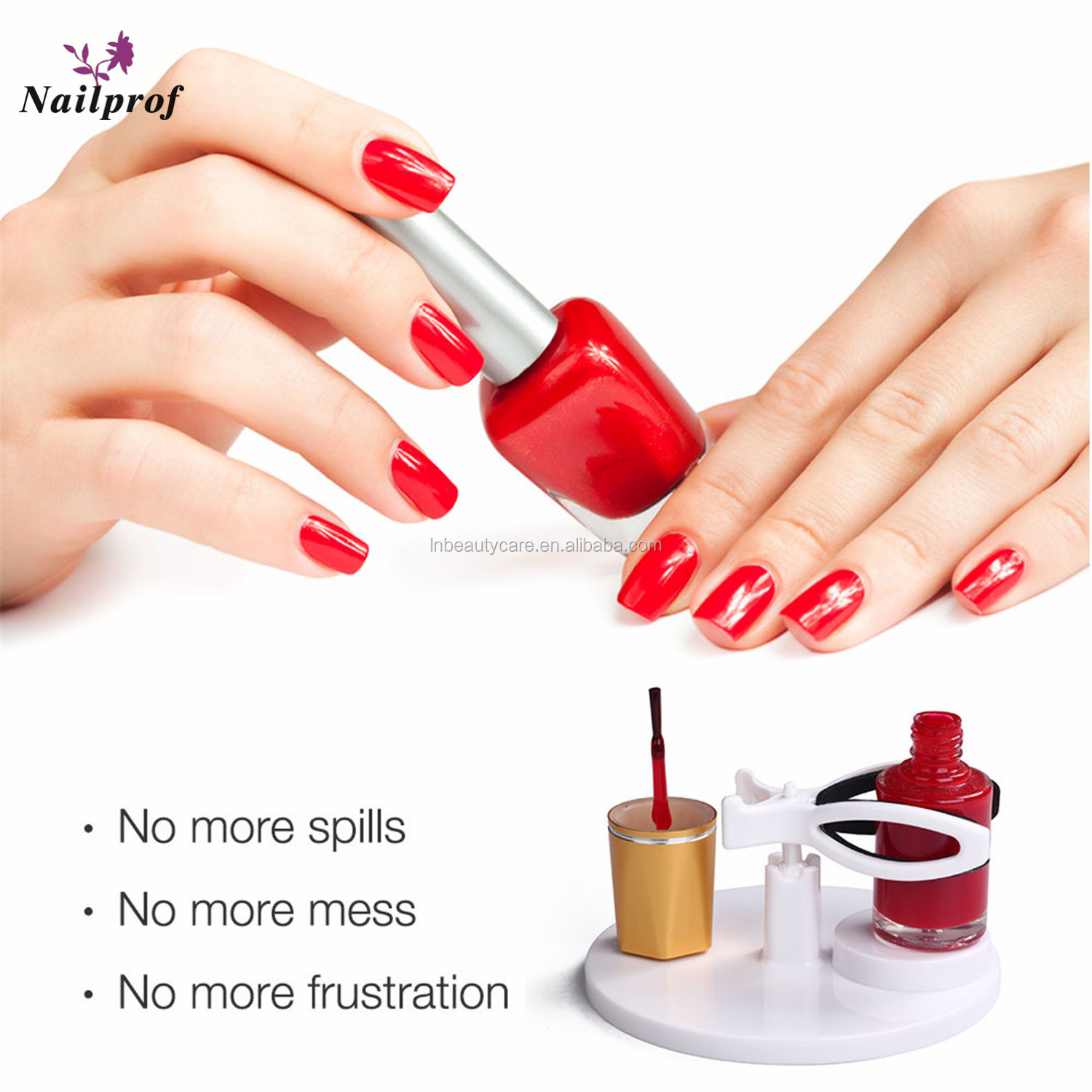 Nailprof. Hand Free Nail Polish Gel Bottle Holder Easy  Nail Varnish Stand Tilt Clip Grip Nail Polish Holder Tool