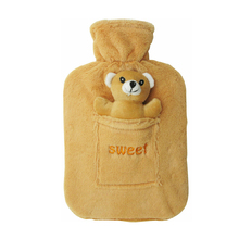 rubber bag plush animals teddy bear hot water bottle cover