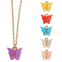 Graceful glitter Butterfly Pendant Charms brass material necklace earrings
