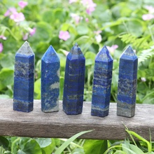 Natural Healing Stones Raw Gems Lapis Lazuli Tower Wand <strong>Points</strong> for Home Decoration