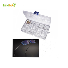 INHDBOX gift 150 pairs Soft silicone nose pads for eyeglasses screw on eyeglass nose pads push on in silicone nose pad