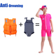KSOS self rescue summer children little girl kids models two 2 pc piece float floating buoyancy swimming suit swimwear swimsuit