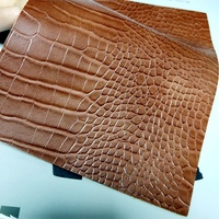 Two-one color crocodile embossed leather fabric pu leather for handbag, shoes