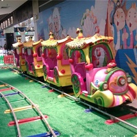 Happy electric track train kids rides fun tile track train amusement kiddie rides
