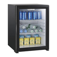 40L Glass Door Mini No Noise Gas Absorption Fridge Refrigerator