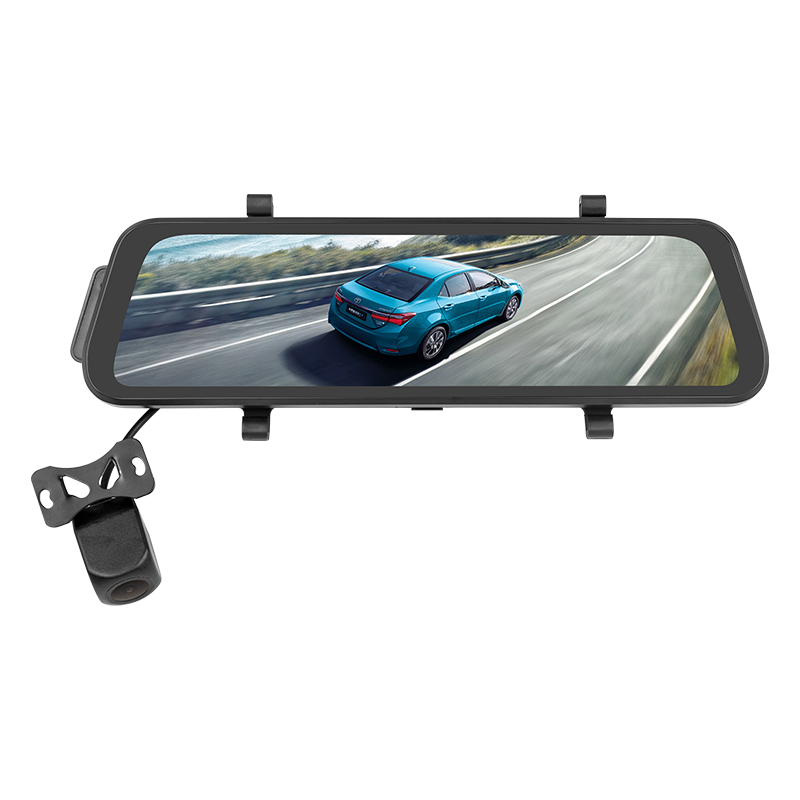Car DVR <strong>Camera</strong> 9.66&quot; Stream Media Rear View Mirror FHD 1080P Dash Cam Video Recorder