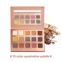 Factory Price 15 Colors eyeshadow Private Label Long Lasting Vegan Eye Shadow Palette Makeup