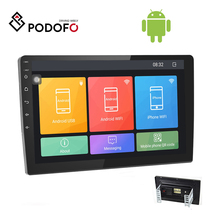 Podofo 10.1'' Autoradio 2Din Android 8.1 Car Radio Stereo 2 Din HD 2.5D Tempered Glass Touch Screen Car Video WIFI GPS Bluetooth