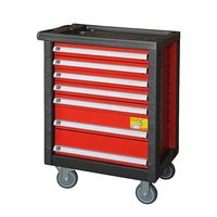 Workshop Professional Heavy Duty Mechanical Storage Garage Metal 7 Drawer Steel Roller Tool Cabinet With Hang Tool Set