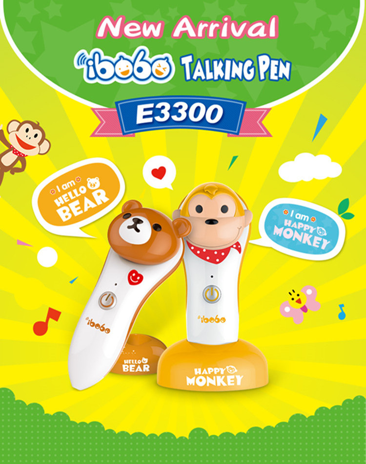 Kids electric educational toy learning machine smart talking pen with audio books