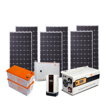 Complete home off grid 3500VA/3000W solar+energy+systems with Accessories panel/battery/controller/inverter