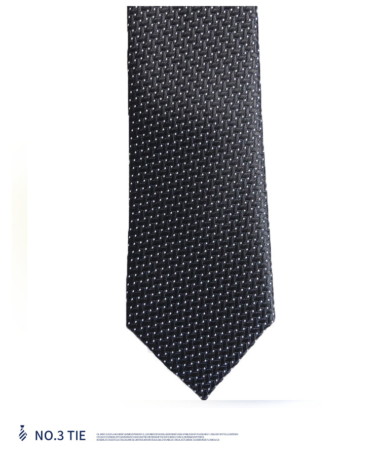 New fashion style casual wear professional business men's tie polyester  black tie factory