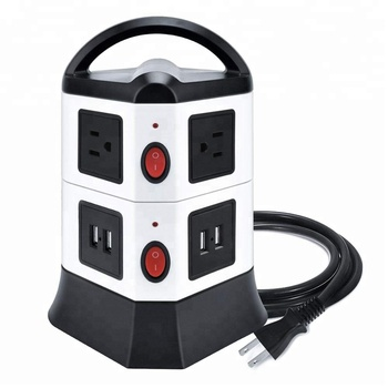 EU Standard Extension Socket Outlet Power Strip with 2 USB Ports, Extension Sockets