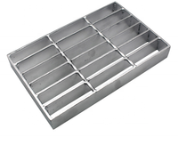 Galvanizing serrated steel grating / metal bridge floor decking plate