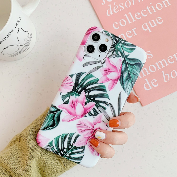 2019 flower pattern frosted <strong>Phone</strong> <strong>case</strong> for iPhone XS MAX
