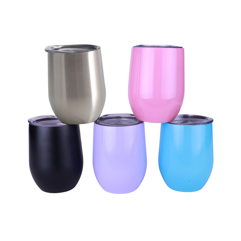 PROMO Wholesale Double Wall <strong>12</strong> oz Insulated Stainless Steel Wine Tumbler