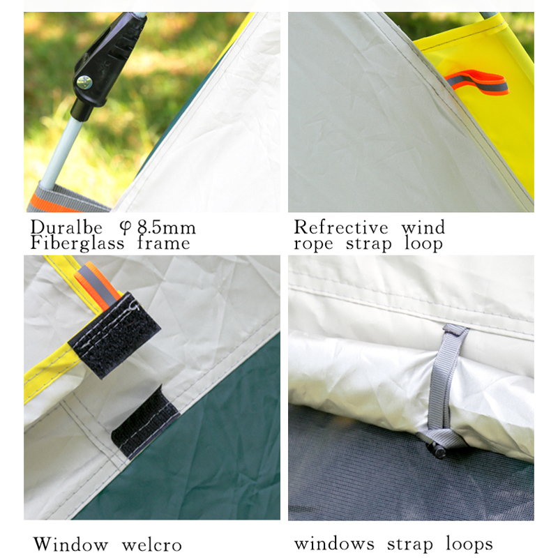 Large Luxury Outdoor Best Sell Automatic 4 Person Double Layers Waterproof Tents For Camping